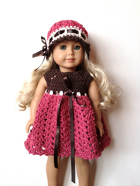 "AG Doll Preemie Hat Collection and 18"" Doll Dress Collection"