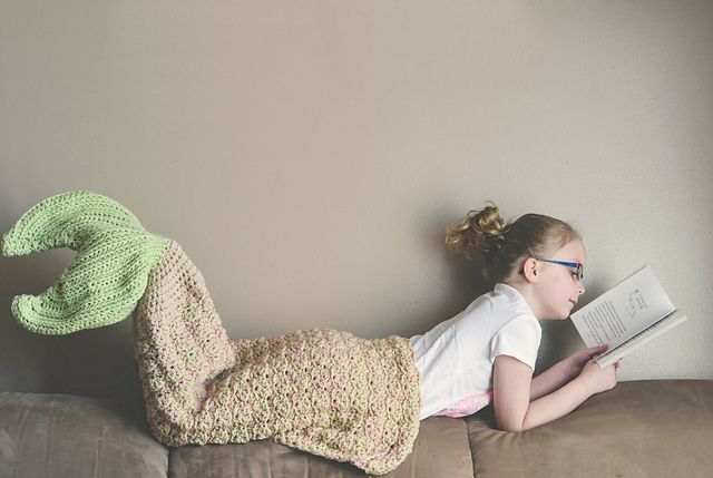 Mermaid Tail Blanket crochet pattern