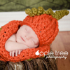 Chunky Pumpkin Hat & Cocoon Set