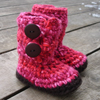 Bulky Button Loop Booties Toddler Sizes